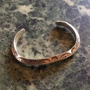 BRACELET Sterling silver Navajo Handmade Unworn